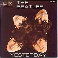 Обложка альбома The Beatles «Yesterday» (1966)
