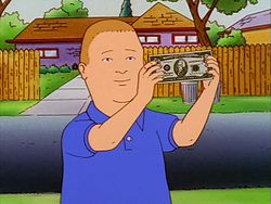 Bobby Hill and 100 Dollars.JPG