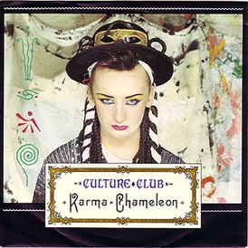 Обложка сингла Culture Club «Karma Chameleon» ()