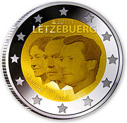 €2 Commemorative coin Luxembourg 2011.jpg