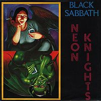 Обложка сингла «Neon Knights» (Black Sabbath, 1980)