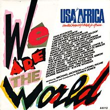 Обложка сингла «We Are the World» (USA for Africa, 1985)