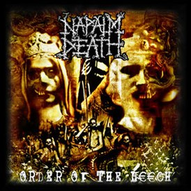 Обложка альбома Napalm Death «Order of the Leech» (2002)