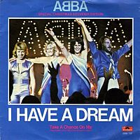 Обложка сингла «I Have a Dream» (ABBA, 1979)