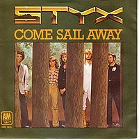 Обложка сингла «Come Sail Away» (Styx, (1977))