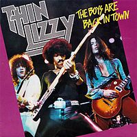 Обложка сингла «The Boys are Back in Town» (Thin Lizzy, 1976)