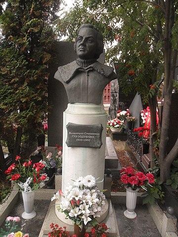 Памятник на Новодевичьем кладбище Москвы