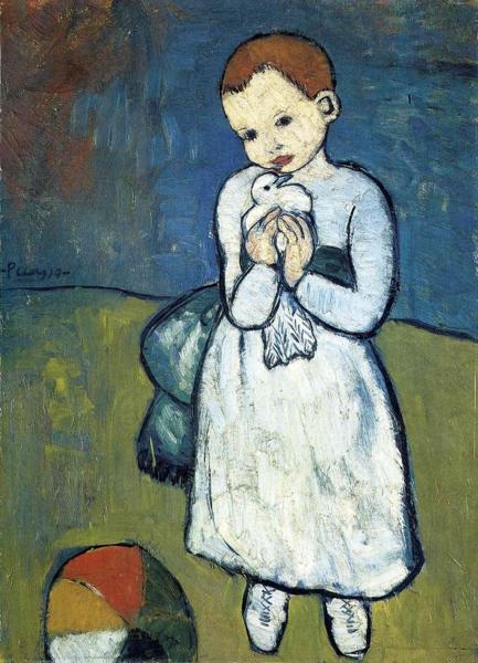 Файл:Ребёнок с голубем. Пабло Пикассо (1901).png