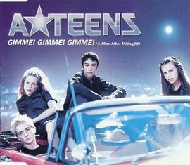 Обложка сингла A*Teens «Gimme! Gimme! Gimme! (A Man After Midnight)» (1999)