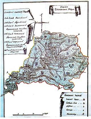Карта Чугуевского уезда, 1788