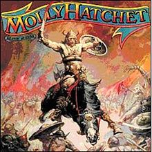 Обложка альбома Molly Hatchet «Beatin' the Odds» (1980)