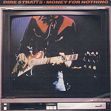 Обложка сингла «Money for Nothing» (Dire Straits, 1985)