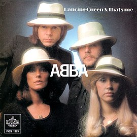 Обложка сингла ABBA «Dancing Queen» (1976)
