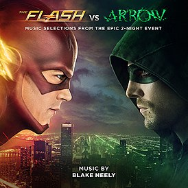 Обложка альбома Блэйка Нили «The Flash vs. Arrow (Music Selections from the Epic 2-Night Event)» (2014)