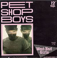 Обложка сингла «West End Girls» (Pet Shop Boys, 1985)