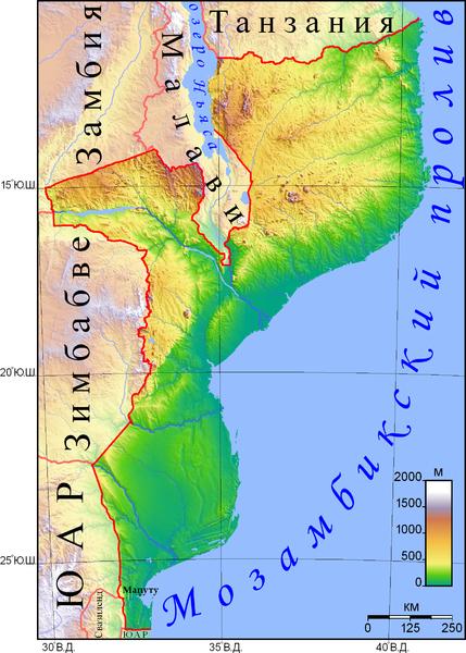 Файл:Рельеф Мозамбика.png