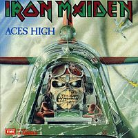 Обложка сингла «Aces High» (Iron Maiden, 1984)