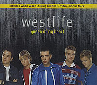 Обложка сингла «Queen of My Heart» (Westlife, 2001)