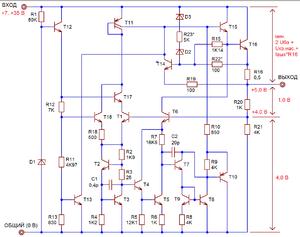 Схемы стабилизаторов напряжения 7805 цена на сварочный аппарат neon