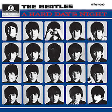 Обложка альбома The Beatles «A Hard Day's Night» (1964)