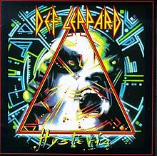 Обложка альбома Def Leppard «Hysteria» (1987)