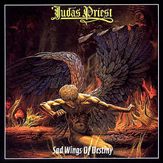 Обложка альбома Judas Priest «Sad Wings of Destiny» (1976)