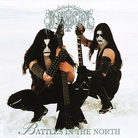 Обложка альбома Immortal «Battles in the North» (1995)