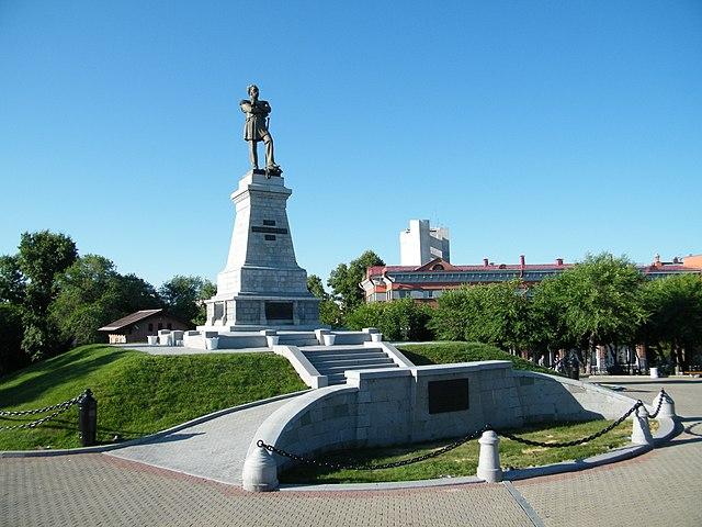 Памятник графу Муравьёву-Амурскому в Хабаровске