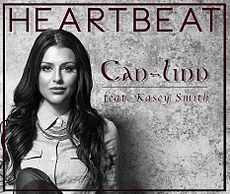Обложка сингла «Heartbeat» (Can-Linn и Кейси Смит, 2014)