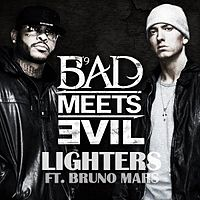 Обложка сингла «Lighters» (Bad Meets Evil совместно с Bruno Mars, {{{Год}}})