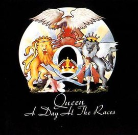 Обложка альбома Queen «A Day at the Races» (1976)