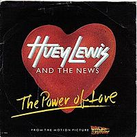 Обложка сингла «The Power of Love» (Huey Lewis and the News, 1985)