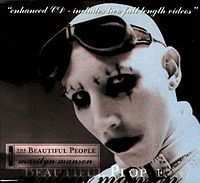 Обложка сингла «The Beautiful People» (Marilyn Manson, 1996)