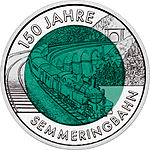 2004 Austria 25 Euro 150 Years Semmering Alpine Railway back.jpg