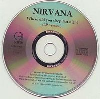 Обложка сингла «Where Did You Sleep Last Night?» (Nirvana, 1994)