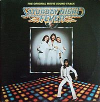 Обложка альбома Bee Gees «Saturday Night Fever» (1977)