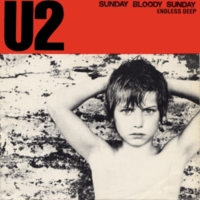 Обложка сингла «Sunday Bloody Sunday» (U2, 1983)