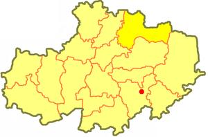 район Биржан сал на карте