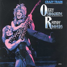 Обложка сингла Ozzy Osbourne «Crazy Train (Live)» (1987)