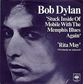 Обложка сингла Боб Дилан «Stuck Inside of Mobile with the Memphis Blues Again» ()
