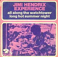 Обложка сингла «All Along the Watchtower» (The Jimi Hendrix Experience, 1968)