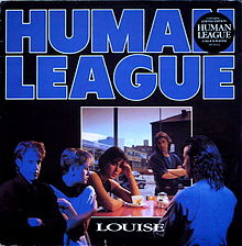 Обложка сингла «Louise» (The Human League, 1984)