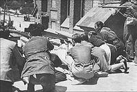 Бой фалангистов и народной милиции в районе мадридских казарм Монтанья. 30 июля 1936