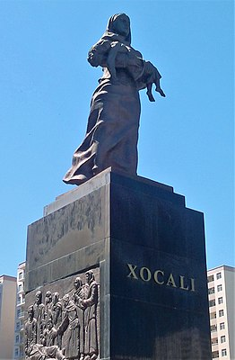Памятник жертвам Ходжалинской резни в Баку