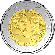 €2 Commemorative coin Belgium 2011.jpg