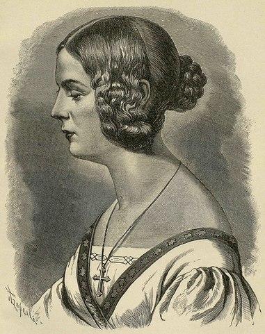 Елизавета Рейтерн. <i>Гравюра В. Шертля с портрета фон Зона, 1840</i>