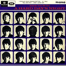 Обложка альбома The Beatles «Extracts from the Film A Hard Day's Night» (1964)