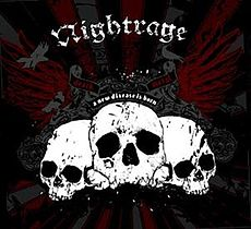 Обложка альбома Nightrage «A New Disease Is Born» (2007)