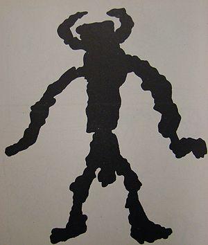 Человек с рогами рисунок
