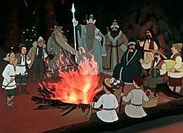 кадр из мультфильма «Двенадцать месяцев»